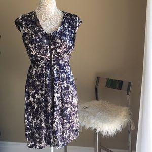 H&M zip up front shirt dress short sleeve